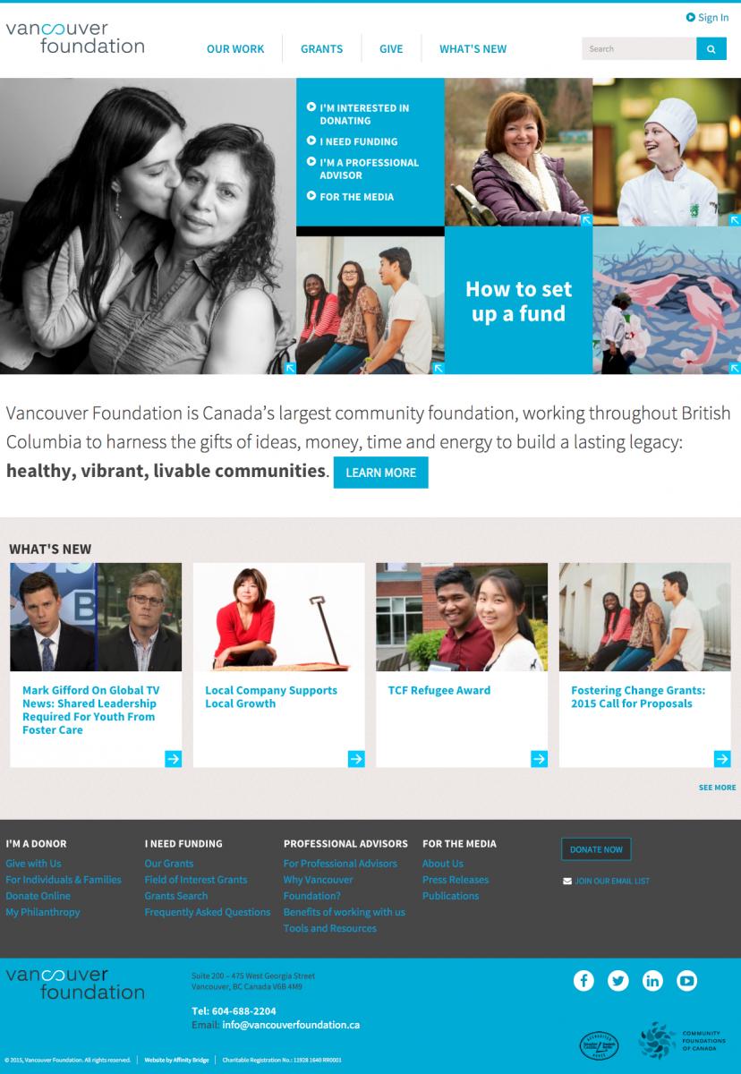 Vancouver Foundation design