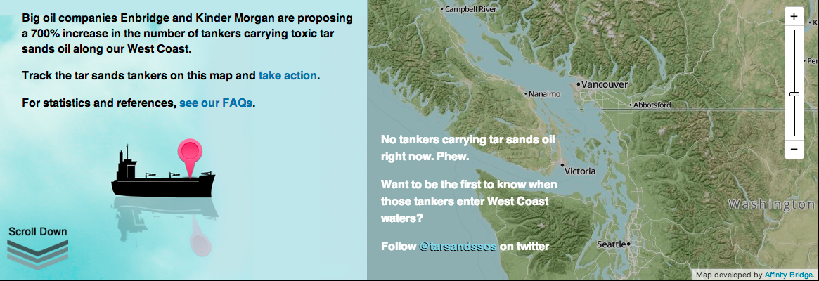 TarSands SOS Map