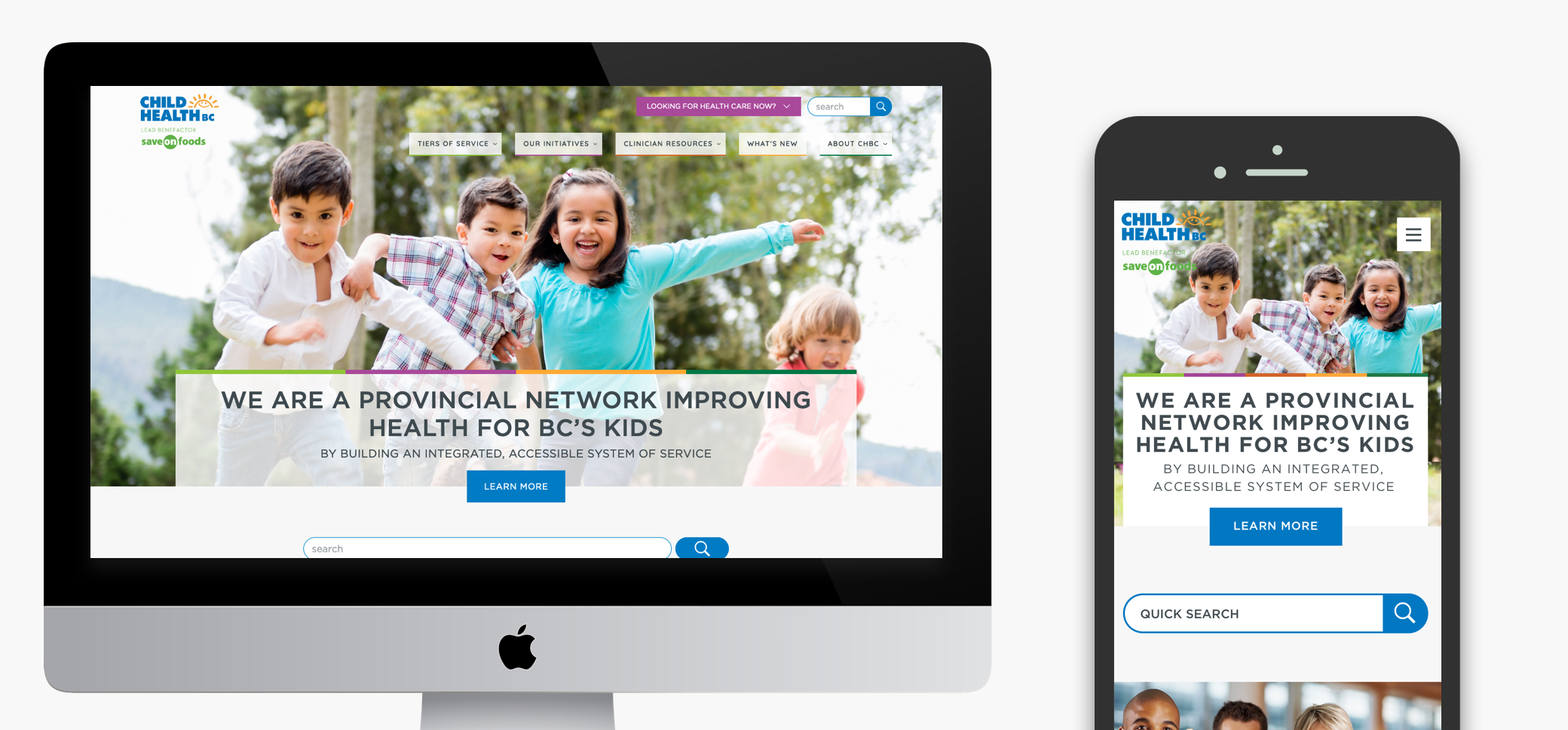 Child Health BC Website stills