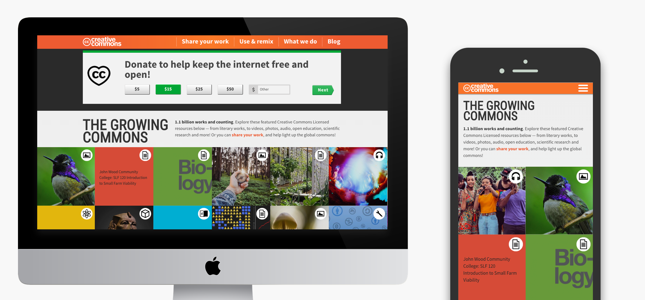 Creative Commons Responsive website design