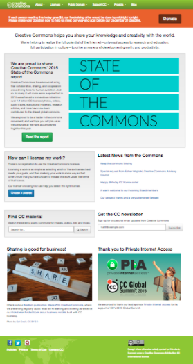 Creative Commons before the redesign