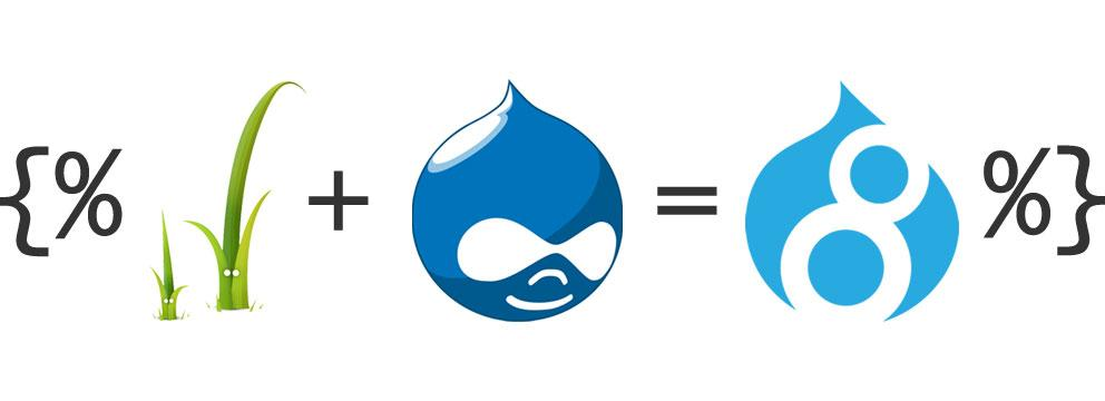 The front end on Drupal 8