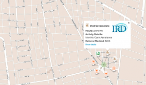 Mapping connections for refugees and aid services